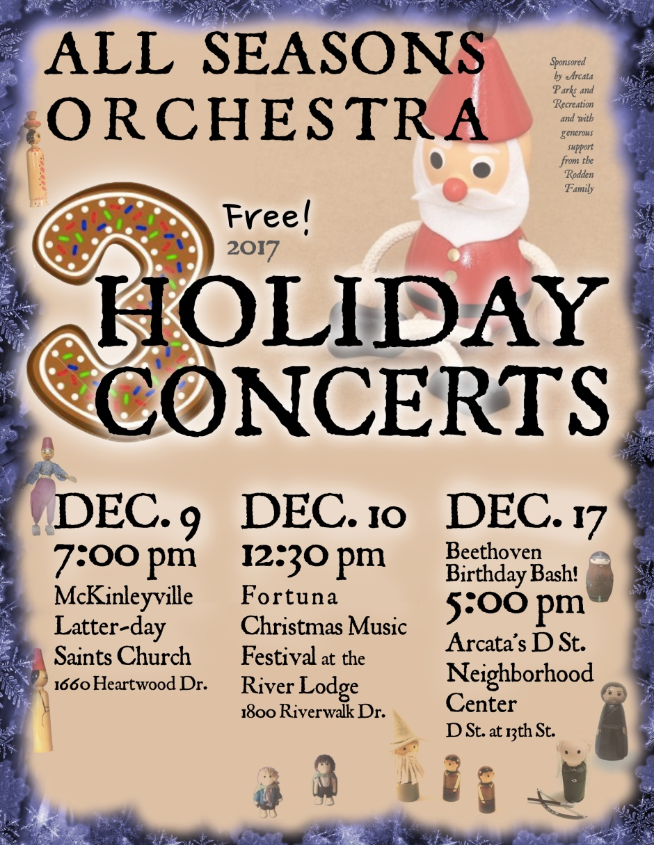 All Seasons Orchestra Holiday Concerts 2017 Poster
